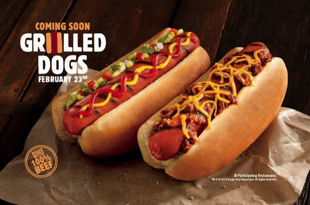 Burger King Grilled Dogs