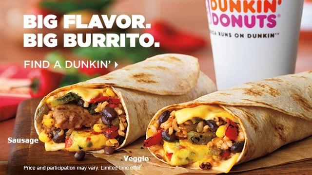Dunkin Donuts GranDDe Burrito