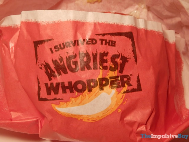 Burger King Angriest Whopper I Survived
