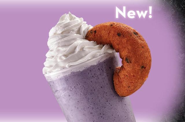 Cold Stone Creamery Blueberry Donut Ice Cream Shake