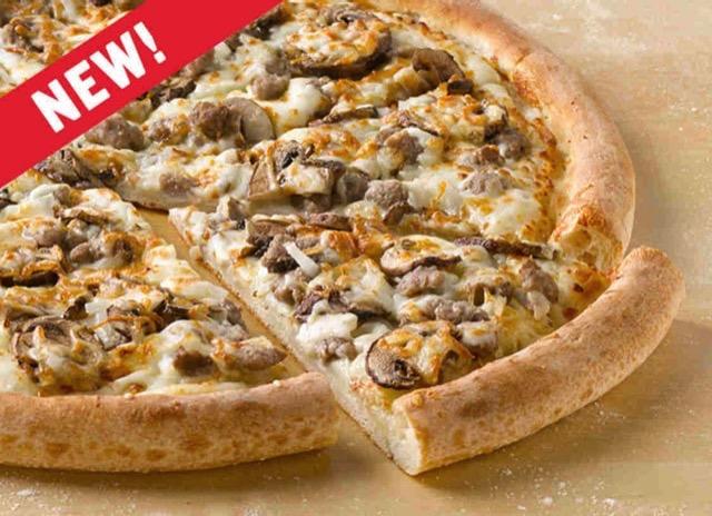 Papa John s Mushroom Swiss Burger Pizza