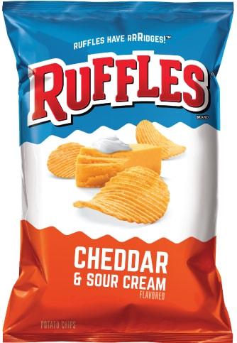 Ruffles cheddar sour cream