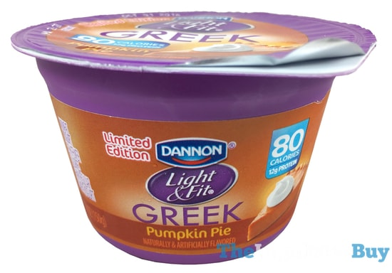 Limited Edition Dannon Light & Fit Pumpkin Pie Greek Yogurt