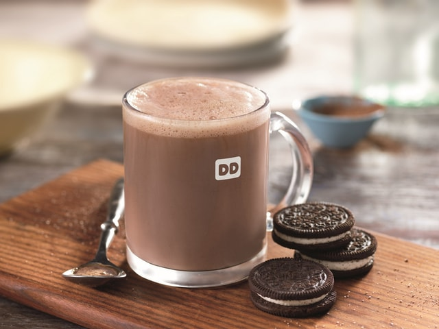 Dunkin Donuts OREO Flavored Hot Chocolate