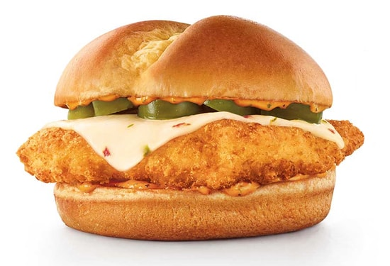 Sonice Fiery Ultimate Chicken Sandwich