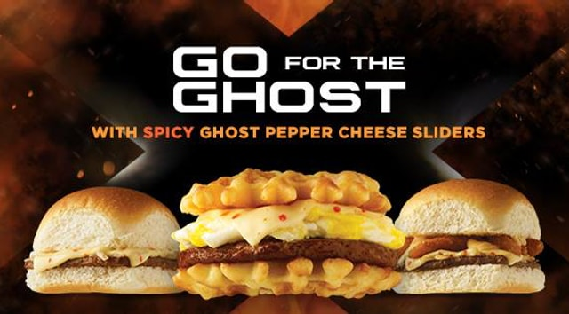 White Castle Ghost Pepper Cheese Sliders