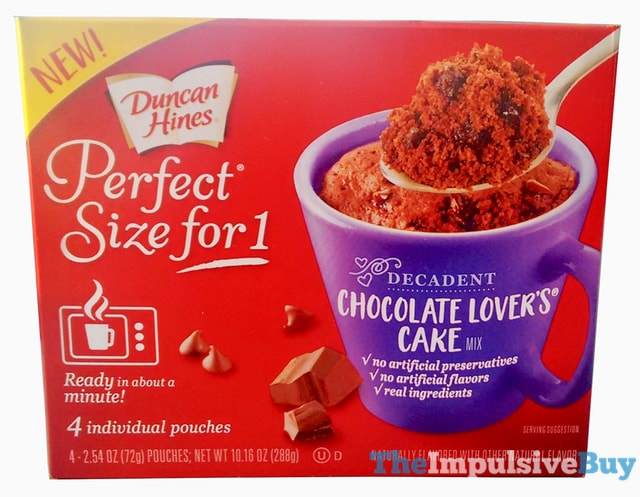 Duncan Hines Perfect Size for 1 Decadent Chocolate Lover s Cake Mix