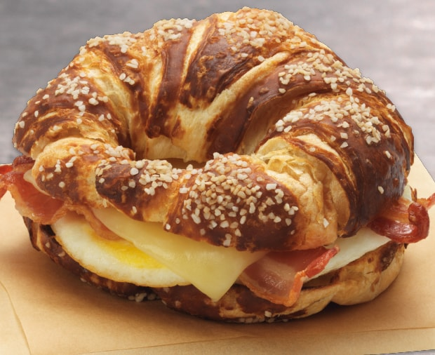 Dunkin Pretzel Croissant Breakfast Sandwich