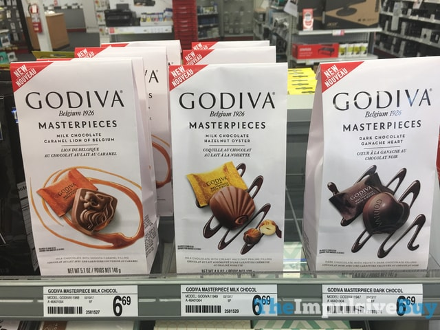 Godiva Masterpieces  Caramel Lion of Belgium Hazelnut Oyster and Ganache Heart