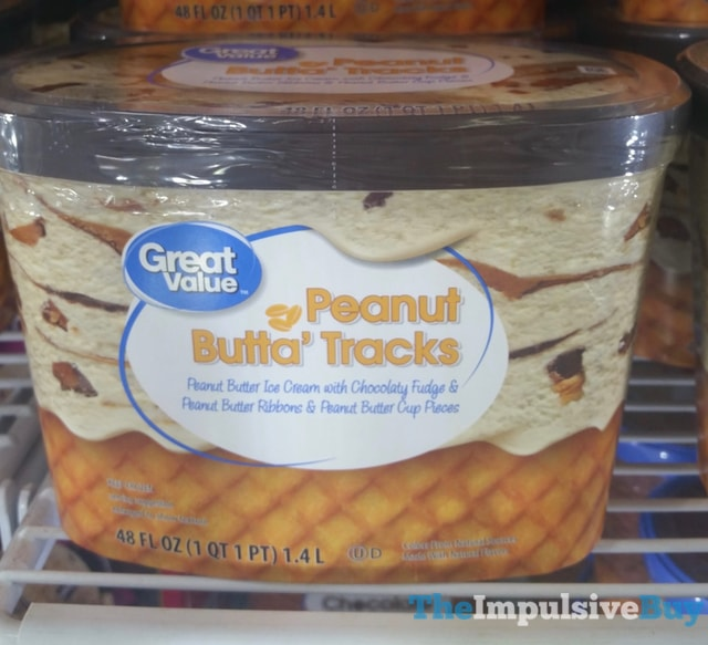 Great Value Peanut Butta Tracks Ice Cream
