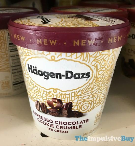 Haagen Dazs Espresso Chocolate Cookie Crumble Ice Cream