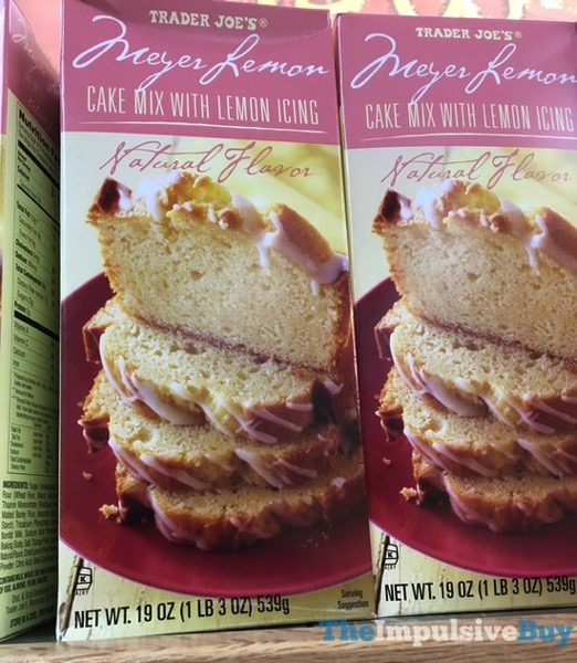 Trader Joe s Meyer Lemon Cake Mix With Lemon Icing