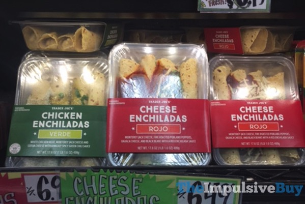 Trader Joe s Verde Chicken Enchiladas and Rojo Cheese Enchiladas