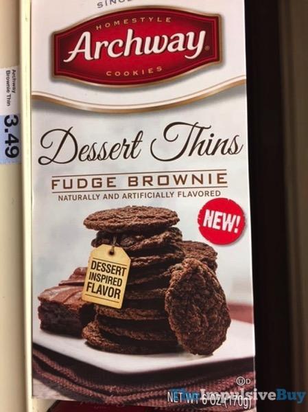 Archway Dessert Thins Fudge Brownie
