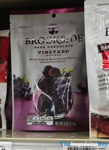 Brookside Dark Chocolate Vineyard Inspired Merlot Grape  Black Currant Flavors