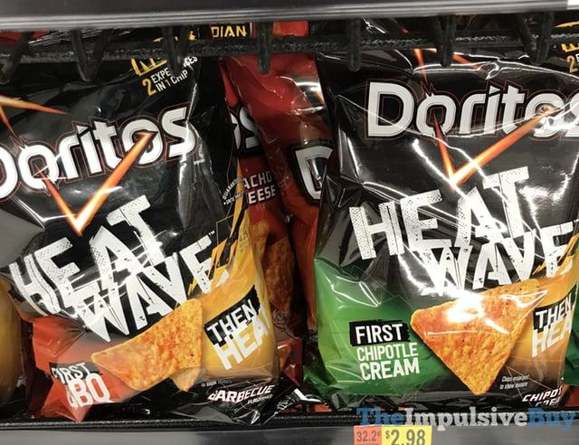 Doritos Heat Wave Tortilla Chips  BBQ and Chipotle Cream