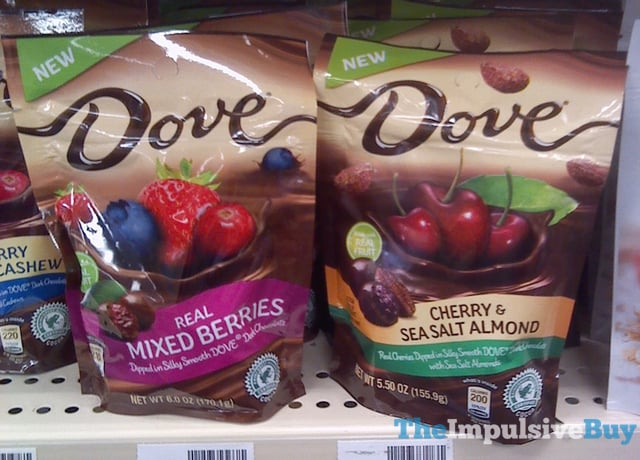 Dove Chocolates Real Mixed Berries and Cherry  Sea Salt Almond
