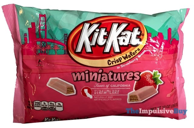 Flavor of California Strawberry Kit Kat Miniatures