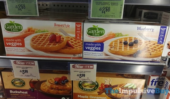 Garcden Lites Homestyle and Blueberry Waffles made with Veggies