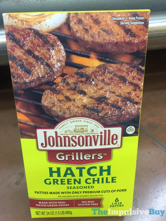 Johnsonville Grillers Hatch Green Chile