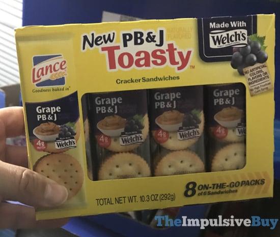 Lance PB J Toasty Cracker Sandwiches