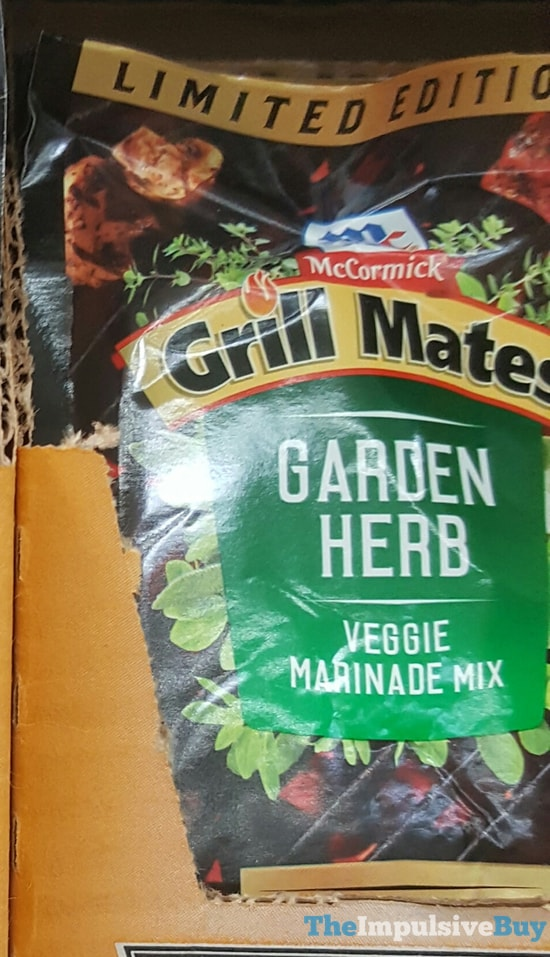 Limited Edition McCormick Grill Mates Garden Herb Marinade Mix