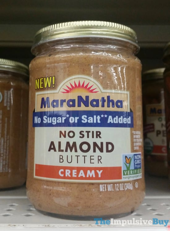 MaraNatha No Sugar or Salt Added No Stir Creamy Almond Butter