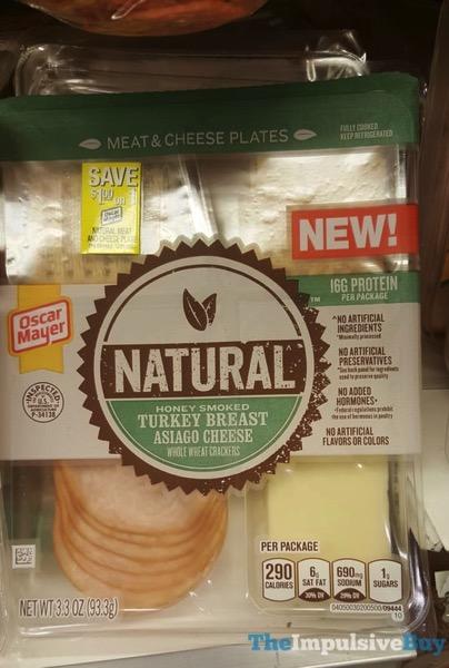 Oscar Mayer Natural Honey Smoked Turkey Breast Meat  Cheese Plates