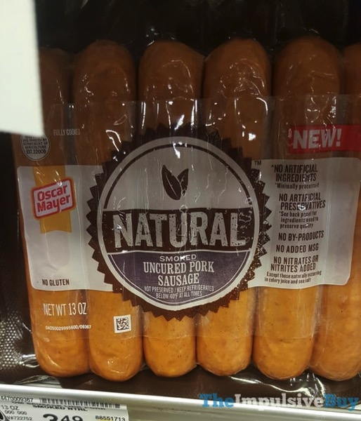 Oscar Mayer Natural Smoked Uncured Pork Sausage