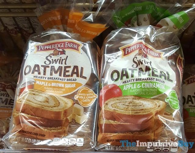Pepperidge Farm Swirl Oatmeal Hearty Breakfast Bread  Maple  Brown Sugar and Apple  Cinnamon