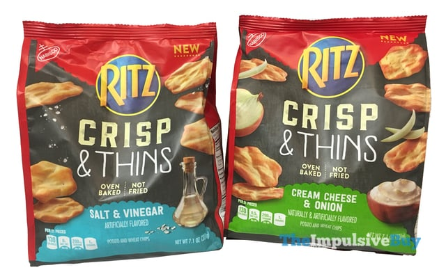 Ritz Crisp  Thins  Salt  Vinegar and Cream Cheese  Onion