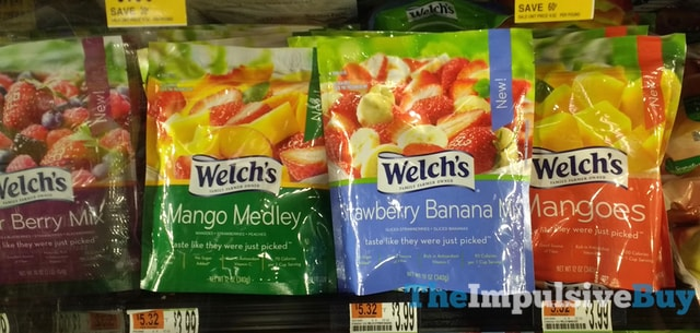 Welch s Frozen Fruits  Mango Medley Strawberry Banana Mix and Mangoes