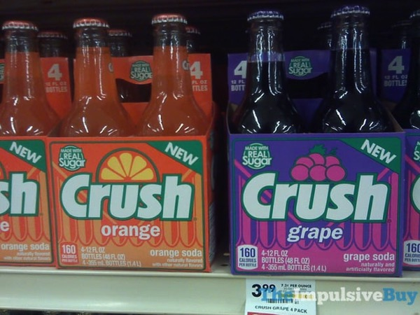 Crush Orange and Grape Made with Real Sugar Bottles