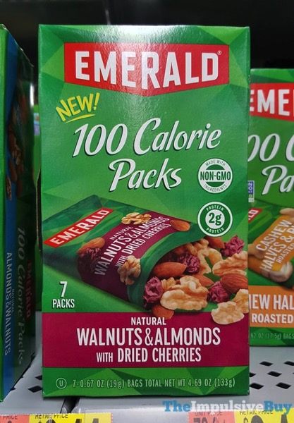 Emerald 100 Calories Packs Walnuts  Almonds with Dried Cherries