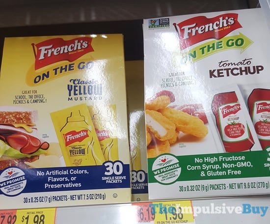 French s on the Go  Classic Yellow Mustard and Tomato Ketchup