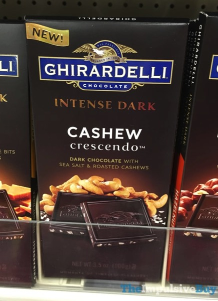 Ghiradelli Intense Dark Cashew Crescendo Bar