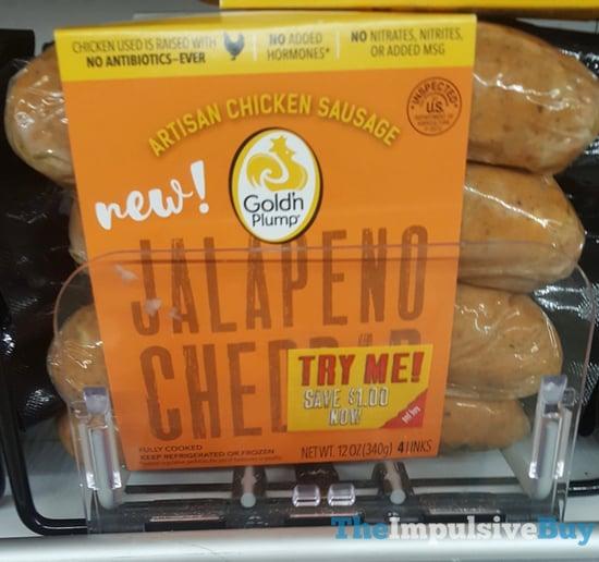 Gold n Plump Jalapeno Cheddar Artisan Chicken Sausage