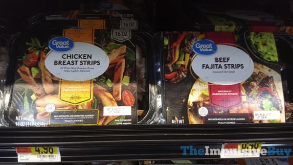 Great Value Chicken Breast Strips and Beef Fajita Strips