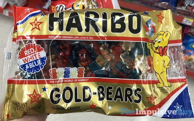 Haribo Red White  Blue Gold Bears