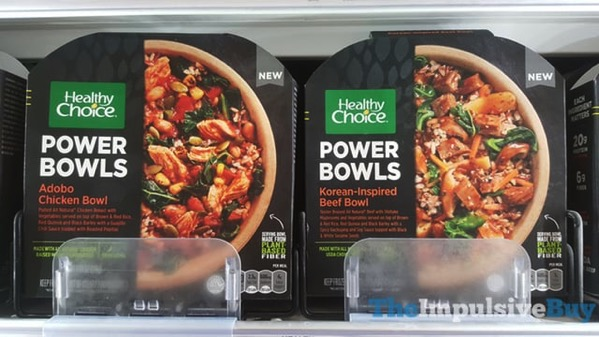 Healthy Choice Power Bowls  Adobo Chicken Bowl and Korean Inspired Beef Bowl