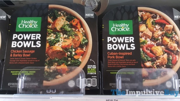 Healthy Choice Power Bowls  Chicken Sausage  Barley Bowl and Cuban Inspired Pork Bowl