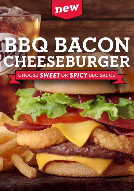 Jack in the Box BBQ Bacon Cheeseburger