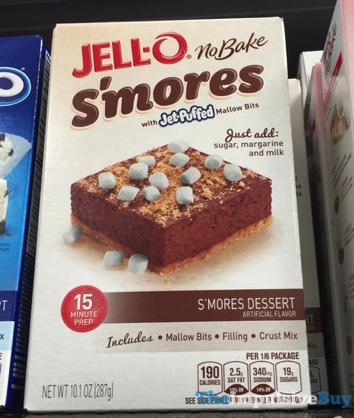 Jell o No Bake S mores Dessert with Jet Puffed Mallow Bits