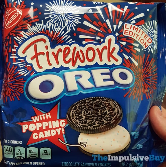 Limited Edition Firework Oreo Candy with Popping Candy