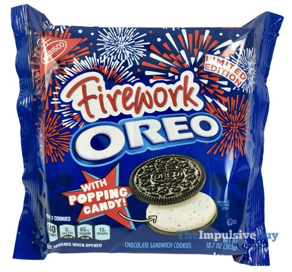 Limited Edition Firework Oreo Cookies with Popping Candy