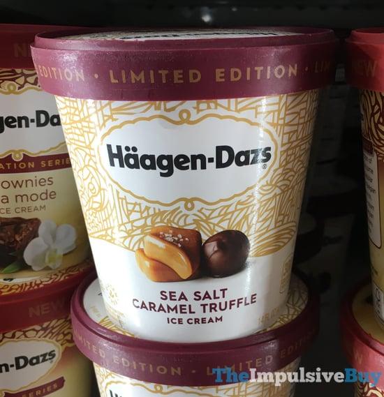 Limited Edition Haagen Dazs Sea Salt Caramel Truffle Ice Cream