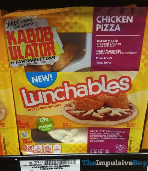 Lunchables Chicken Pizza