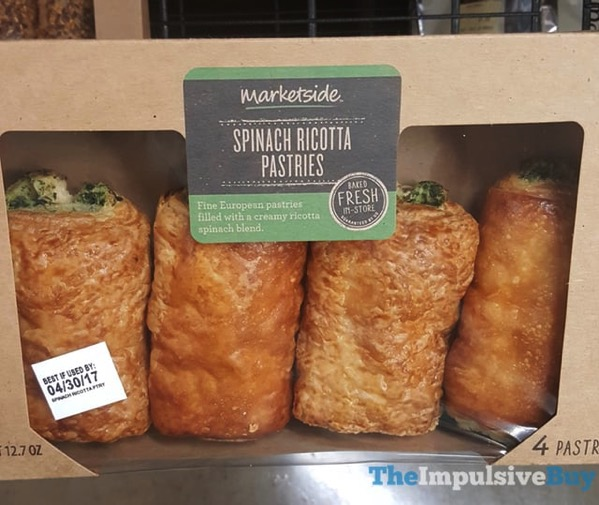 Marketside Spinach Ricotta Pastries