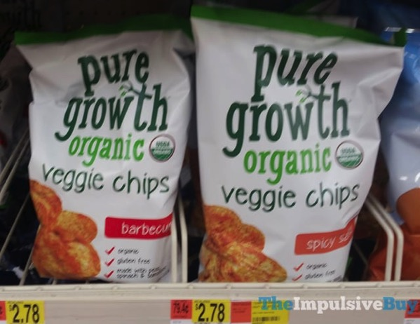 Pure Growth Organic Veggie Chips  Barbecue and Spicy Salsa