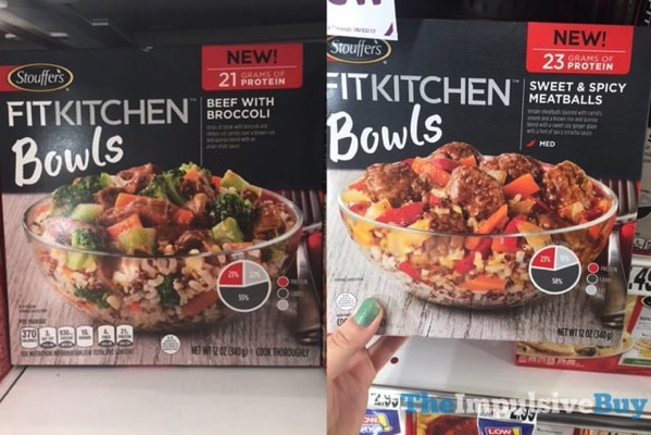 Stouffer s Fit Kitchen Bowls  Beef with Broccoli and Sweet  Spicy Meatballs